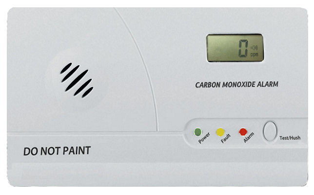 Detektor oxidu uhelnatého CO s alarmem, paměť, LCD Hutermann ALARM CO-86 EN50291