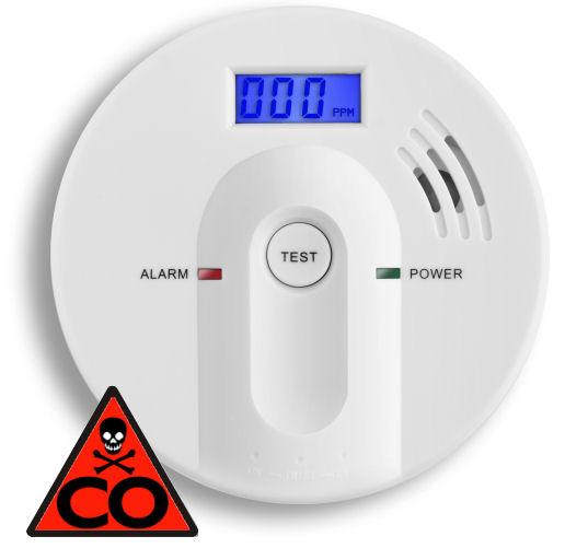 Detektor oxidu uhelnatého s alarmem, ALARM CO-602
