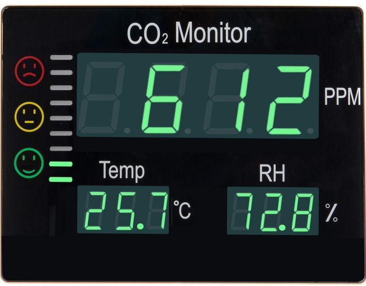 Detektor oxidu uhličitého CO2 s alarmem ALARM CO2-2008