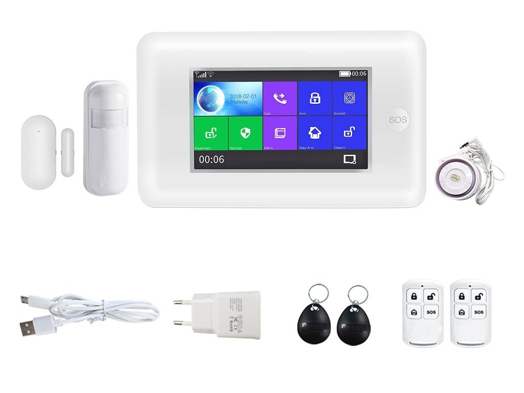 Bezdrátový domovní GSM alarm s Wi-Fi, GSM telefonem a SOS voláním HG-430-EN