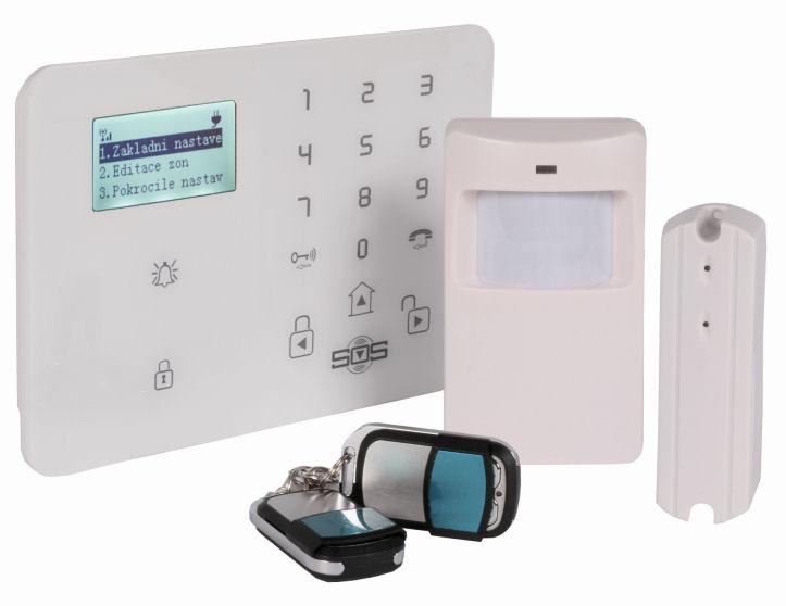 Bezdrátový domovní GSM alarm s GSM telefonem a SOS voláním