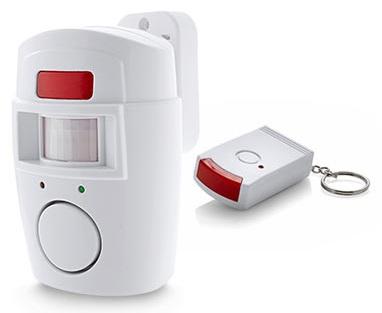Alarm s pohybovým čidlem PIR + 2ks dálkové ovládání