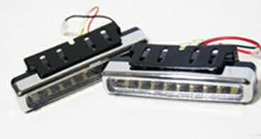 LED diodová poziční světla 8 LED, homologace,  typ HL-804