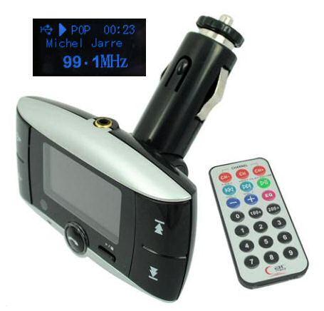 FM transmitter - přehrávač MP3 do auta (USB/ SD/ LINE IN), Bluetooth Handsfree, dálkové ovládání,  typ CMP3-12BT