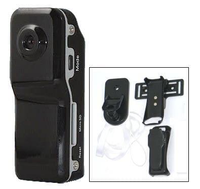 MiniDV sportovní akční kamera na kolo s SD rekordérem 720x480 ACTION CAMERA 5700 HR (klon MD80 SPORT X-Cam minikamera se záznamem 30sn/ s)