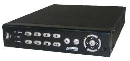 Digitální Real-time AHD DVR rekordér pro 4 kamery, 1x audio, H.264, DVR 4604 ELN AHD lite