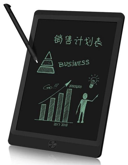 Elektronický LCD psací tablet  10', možnost částečného mazání textu, barva černá