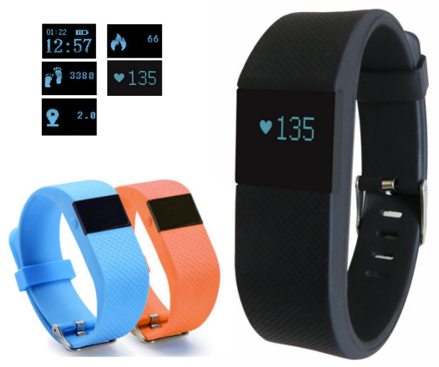 Fitness náramek s měřením tepu FT64S OLED, Bluetooth 4.0, Android+iOS