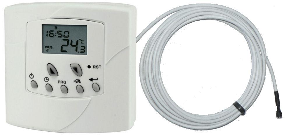 Týdenní programovatelný termostat Thermo 1038Ext s externím čidlem
