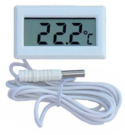HT-02 teploměr digitální s externím čidlem, rozsah měření teploty: -50 až +110C