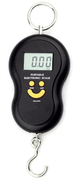HS-45 digitální závěsná váha 45kg x 10g mincíř, měření teploty