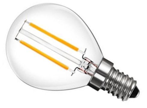 LED žárovka vláknová E14 / E27 P45 Filament 2W