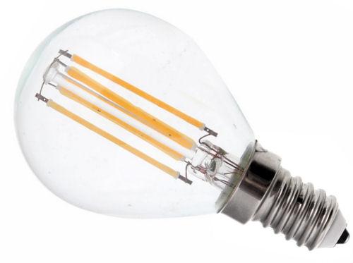 LED žárovka vláknová E14 E27 P45 Filament 4W