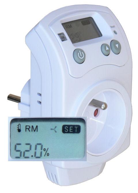 Zásuvkový hygrostat HH-810